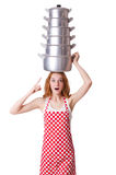 Young woman cook Royalty Free Stock Photos