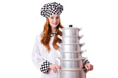 Young woman cook Stock Images