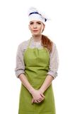 Young woman cook in studio Royalty Free Stock Photo