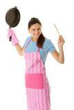 Young woman cooking Royalty Free Stock Photos