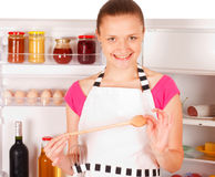 Young woman cooking Stock Photo