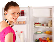 Young woman cooking Stock Photos