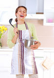 Young woman cooking. Healthy food Royalty Free Stock Photos