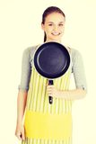 Young woman cooking healthy food Royalty Free Stock Images