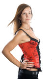 Young woman in corset Royalty Free Stock Image