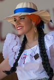 Young woman from Costa Rica in traditional costume Royalty Free Stock Photo