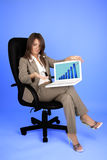 Young businesswoman in costume Stock Images