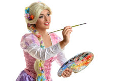 Young Woman In Costume Painting Stock Photos