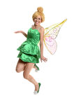 Young Woman in Costume and Wings Royalty Free Stock Photo