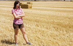 Young woman in the countryside Stock Images