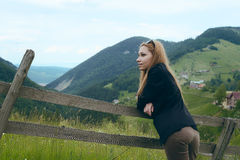 Young woman in the countryside Royalty Free Stock Photo