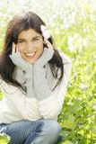 Young woman  in the countryside Royalty Free Stock Photos