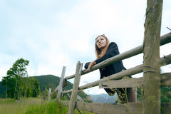 Young woman in the countryside Royalty Free Stock Image