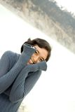 Young woman covering face with hands Stock Images