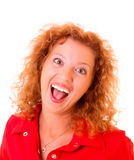 Young woman with crazy smile Royalty Free Stock Image