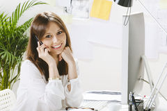 Young woman creative designer working in office. Stock Images
