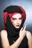 Young woman with creative make-up Royalty Free Stock Photography
