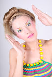 Young woman with creative make-up and coiffure Royalty Free Stock Images