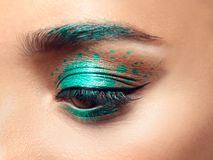 Young woman with creative makeup Royalty Free Stock Image