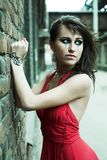 Young woman with creative makeup. Portrait of a stylish young woman with creative makeup Stock Photo