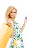 Young woman with credit card Stock Photography