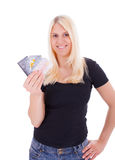 A young woman with credit card Stock Photo
