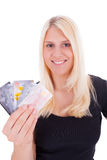 A young woman with credit card Stock Photography