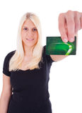 A young woman with credit card Royalty Free Stock Photo