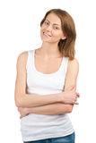 Young woman with crossed arms Royalty Free Stock Photo