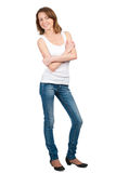 Young woman with crossed arms Stock Photo