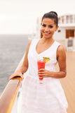 Young woman cruise Stock Photography
