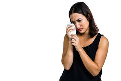 Young woman crying Stock Photos