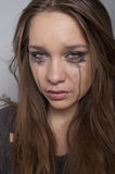 Young woman crying Stock Photo