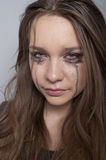 Young woman crying Stock Image