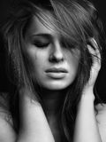 Young woman crying Royalty Free Stock Image