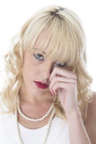 Young Woman Crying Tearful and Upset Royalty Free Stock Photography