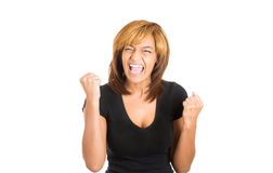 Young woman crying yelling out in anger and frustration Royalty Free Stock Images