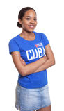 Young woman from Cuba with crossed arms Royalty Free Stock Photos
