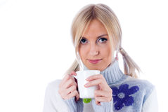 Young woman with a cup Royalty Free Stock Photo