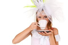 Young woman with a cup of coffe Royalty Free Stock Photo