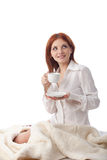 Young woman with  cup of coffee. Stock Photos