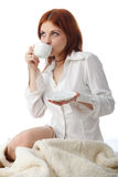 Young woman with  cup of coffee. Stock Photography
