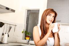 Young woman with a cup of coffee Royalty Free Stock Photography