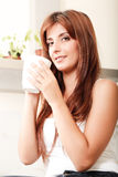 Young woman with a cup of coffee Stock Photo