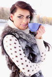 Young woman with a cup of coffee Royalty Free Stock Photo