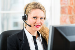 Young Woman from the customer service Royalty Free Stock Images
