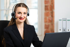Young Woman from the customer service Stock Photo