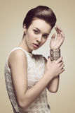 Young woman with cute hair-style Royalty Free Stock Photos