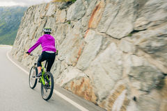 Young Woman Cycling Royalty Free Stock Photo