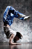 Young woman dancer. Contrast colors Stock Photo
